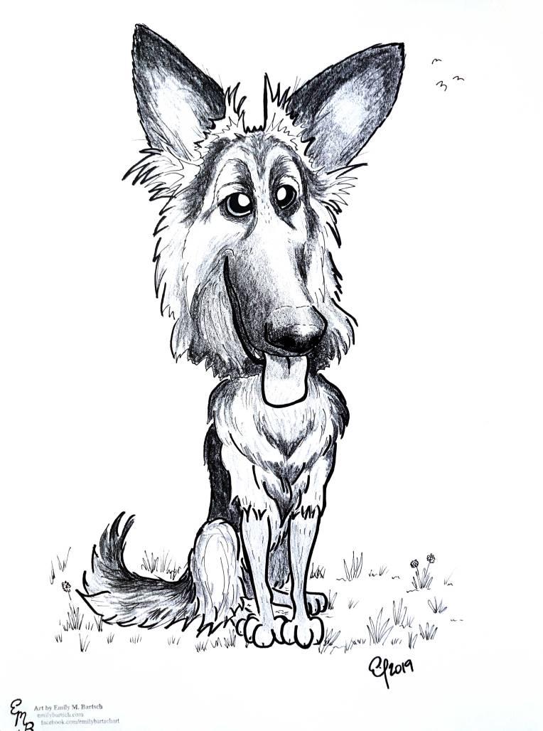 goofy-german-shepherd
